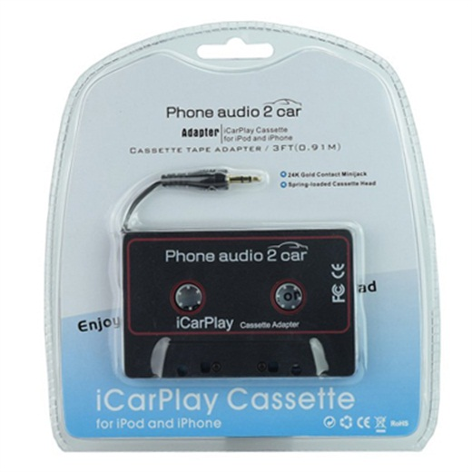 M100, WeRecord iCar play Cassette Tape Adapter, phone audio 2 car