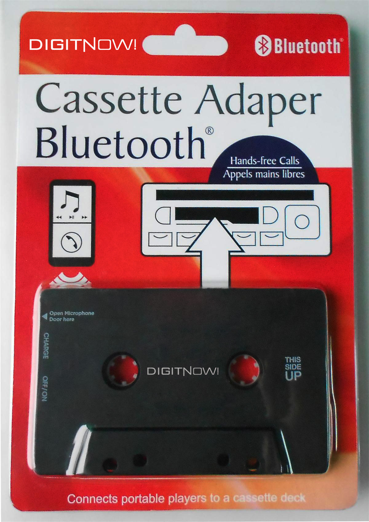 Cassette Adapter Bluetooth, Music Receiver for Cassette Decks