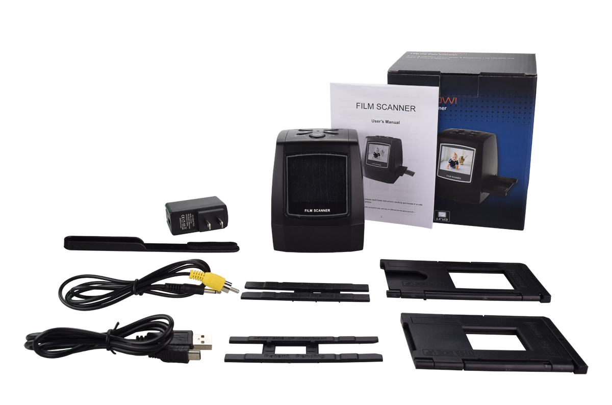 M126, 22MP All-In-1 Film & Slide Scanner w/ Speed-Load Adapters for 35mm Negative & Slides, 110, 126, & Super 8 Films