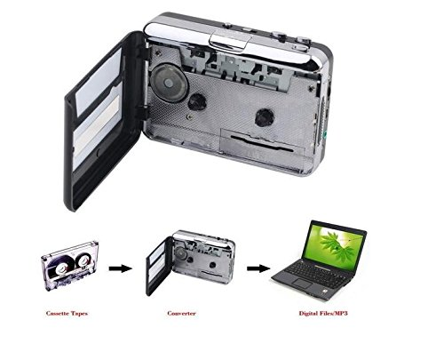 DigitNowCassette Tape To MP3 CD Converter Via USB,Portable USB Cassette Tape Player Capture MP3 Audio Music,Compatible With Laptop and Personal Computer,Convert Walkman Tape Cassette To MP3 Format
