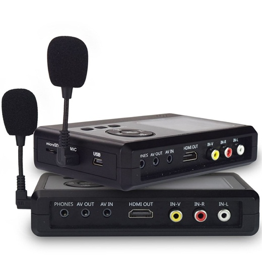 BR130, Personal Media&Digital Converter.Transferring Device to Capture Video from VCR&#39s,VHS Tapes,Hi8,Camcorder,DVD,TV BOX and Gaming Systems,etc Via MIC&3.5mm AV in.Digitize Videos to Memory Car
