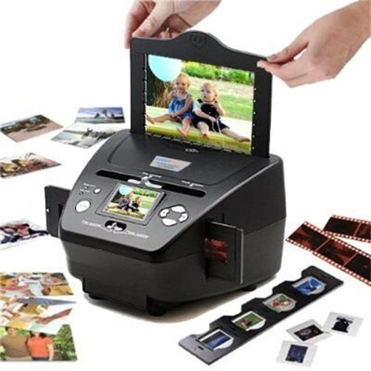 M122, 35mm Film Scanner Photo, Name Card, Slides and Negatives to Digital Converter for Saving Films to Digital Files (10 Megapixels Interpolated)