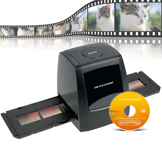 M123, Digital Negative/Positive Film Scanner with 1800/3600DPI High Resolution USB 35mm 135mm Slide and Film Scanner,Need Computer and Install the CD File.Support XP/Vista/Windows (Not Support Mac