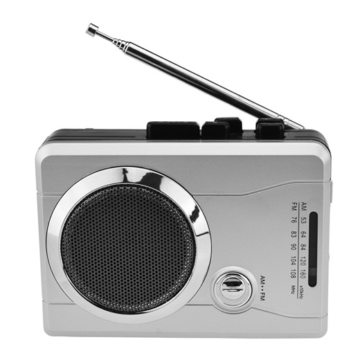 BR630, Mini Stereo Audio Retro Personal Cassette Player Wireless AM/FM  Radio and Voice Radio Cassette Recorder with Earphones-Cassette Radio