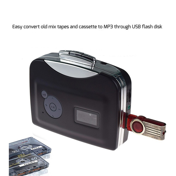 BR633, Portable Digital USB Cassette Audio Music Player and Tape-To-MP3 Converter (Driver and Computer not required)