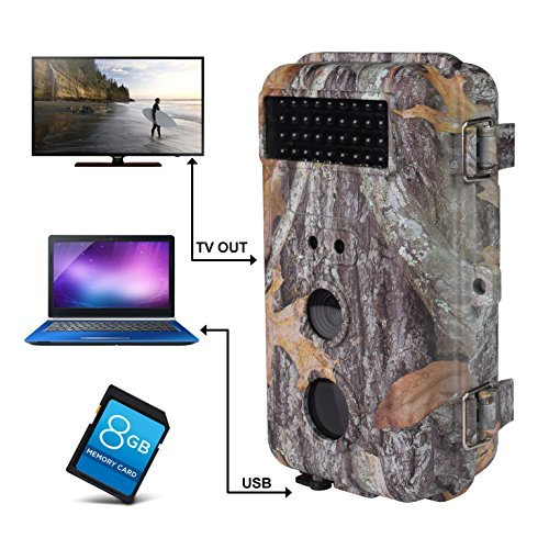 BR639, 16MP 1080 HD Waterproof Trail &Surveillance Digital Camera with Infrared Night Version up to 65ft in 2.4&#39&#39LCD Screen &40pcs IR LEDs Wildlife Hunting &Scouting Camera