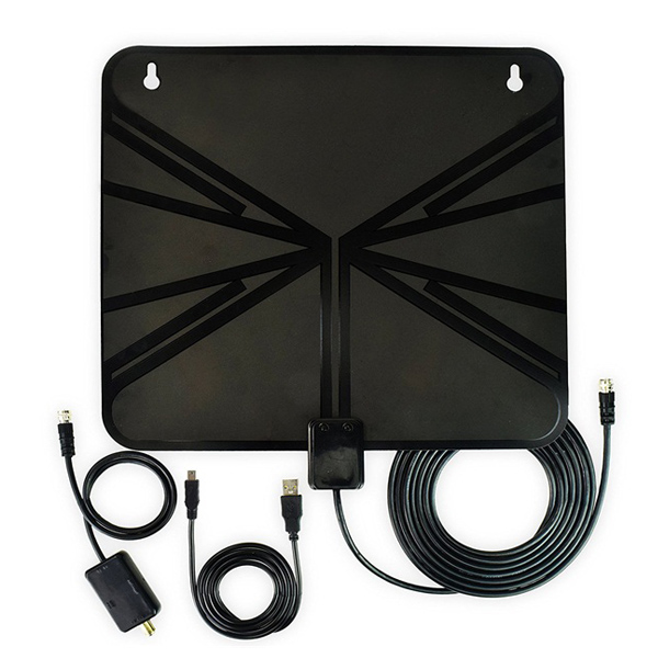DIGITNOW! HDTV Antenna, Indoor Amplified HDTV Antenna 50 Mile Range with Detachable Amplifier Signal Booster and 10ft High Performance Coax Cable for free TV program