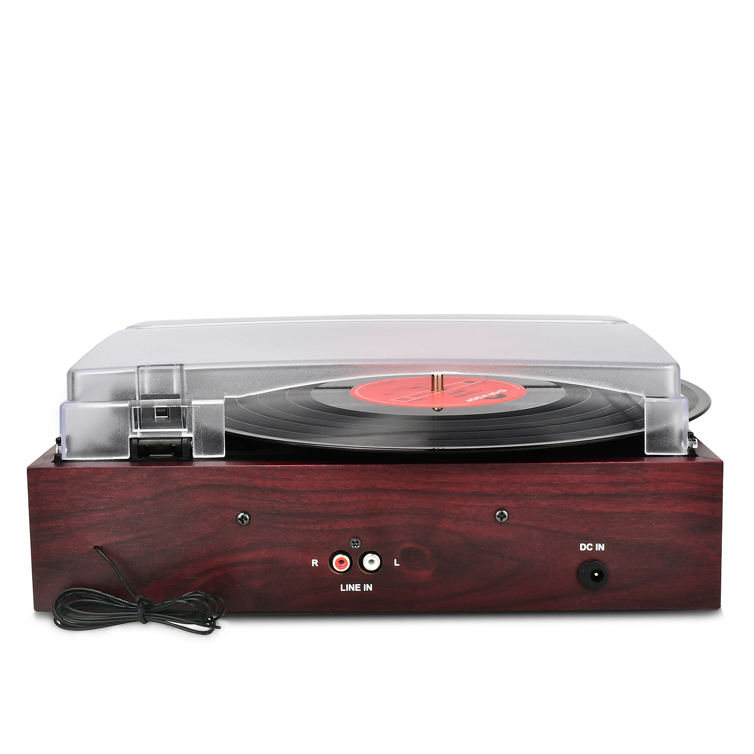DIGITNOW Wooden 3 Speed Retro Turntable with Built in Dynamic Stereo Speakers,Analog AM/FM Stereo Radio and Audio Source Line in