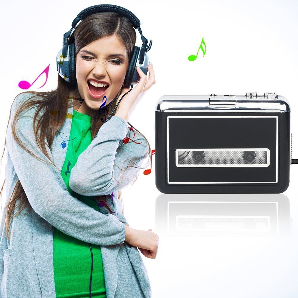 BR602B DIGITNOW Cassette Player Portable Walkman, Convert Tapes to Digital MP3 Converter with New Convenient Software (AudioLAVA)