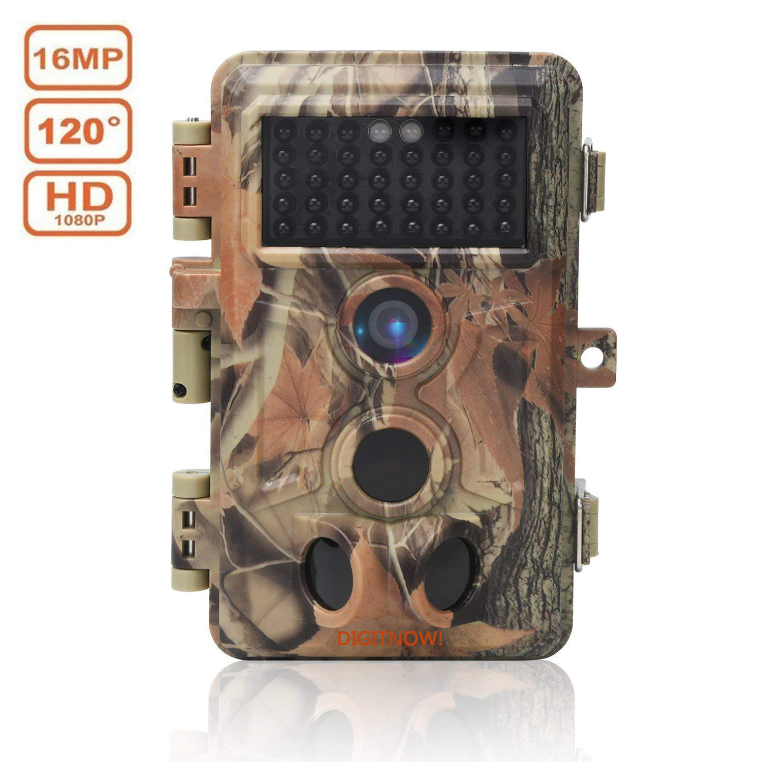 BR693, 16MP 1080P HD Waterproof Trail &Surveillance Digital Camera with Infrared Night Version up to 65ft in 2.4''LCD Screen &40pcs IR LEDs Wildlife Hunting &Scouting Camera