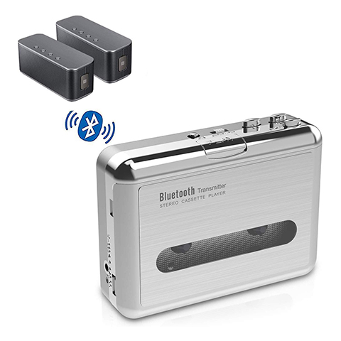 DIGITNOW Bluetooth Walkman Cassette Player Bluetooth Transfer Personal Cassette, 3.5mm Headphone Jack and Earphones Included