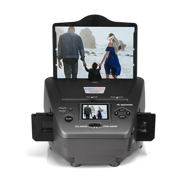 "M122A, All-in-One High Resolution 16MP Film Scanner, with 2.4"" LCD Screen Converts 35mm/135slides&Negatives Film Scanner Photo, Name Card, Slides and Negatives for Saving Films to Digital Files"