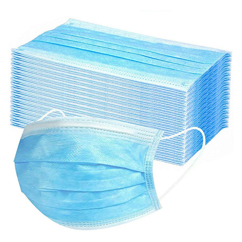 50 PCS Disposable Mask,  Mask 3 Layer,  Unisex-Mask, 17.5x9.5cm ,Ultra Soft Lightweight (Blue, 50PCS)