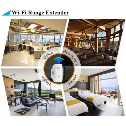WF003 WiFi Repeater, Range Extender, 2.4G Network with Integrated Antennas LAN Port, 300Mbps Wireless Router Signal Booster Amplifier Supports Repeater/AP