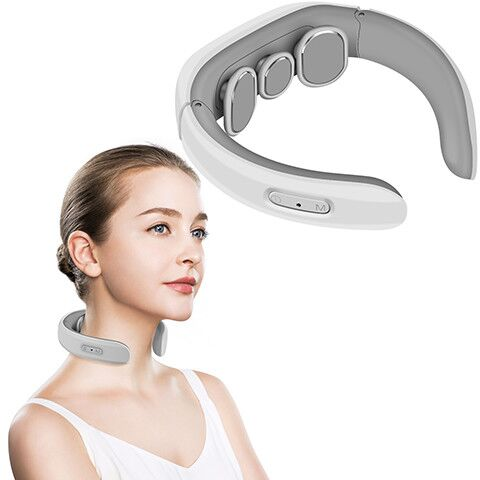 Eyesen Neck Massager, Electric Pulse Neck Massager, Intelligent Deep Tissue Neck Massage for Cervical Muscle Pain Stiff Fatigue Relief