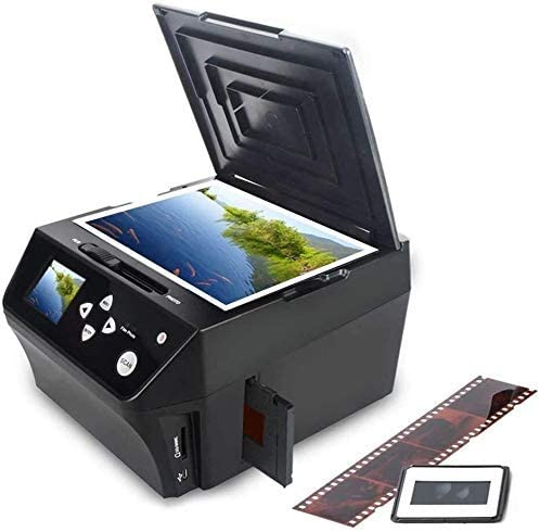 DIGITNOW 22MP Film &Slide Photo Multi-Function Scanner, Converts 135Film/35mm,110Film/16mmNegatives/Slide/Photo/Document/Business Card to HD 22MP Digital JPG Files, 8GB Memory Card Included