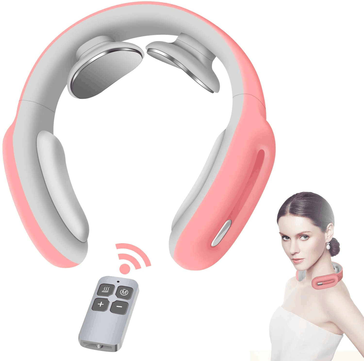 Cotsoco Neck Massager, Intelligent Neck Massage with Heat, 3 Modes 15 Levels Deep Tissue Electric Massager Use at Home Office Car for Pain Relief